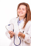 Happy medical doctor woman Royalty Free Stock Image