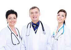 Happy medical doctors standing together Royalty Free Stock Image