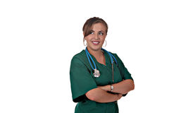 Happy Medical Personnel Looking Sideways Stock Photography