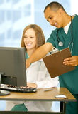 Happy Medical Staff Working Together Royalty Free Stock Photo