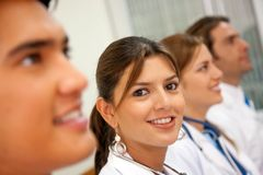 Happy medical team Royalty Free Stock Photo
