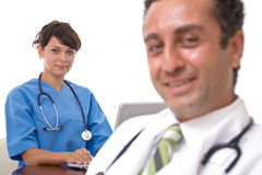 Happy medical team Royalty Free Stock Photos