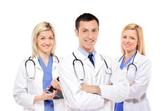 Happy medical team of doctors Stock Photo