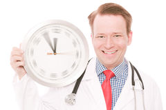Happy medical time (spinning watch hands version) Stock Images