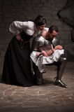Happy medieval family Stock Photography