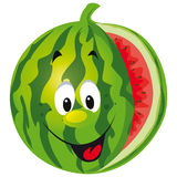 Happy melon cartoon. Isolated on white background Stock Photography