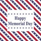 Happy Memorial Day American flag stock illustration