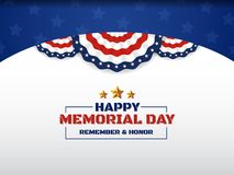Happy Memorial Day Background Design With USA Circle Flag Royalty Free Stock Photo