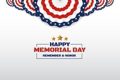 Happy Memorial Day Background Design With USA Circle Flag Stock Image