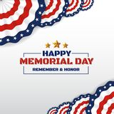 Happy Memorial Day Background Design With USA Circle Flag Royalty Free Stock Image