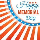 Happy Memorial Day background with stars and stripes Stock Photo