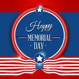Happy Memorial day background. Happy Memorial day symbol with flag red background.  illustration Royalty Free Stock Photo