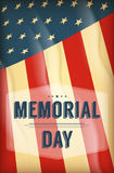 Happy Memorial Day background Stock Image