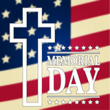 Happy Memorial Day background template. Happy Memorial Day poster. American flag. Patriotic banner. Stock Photography