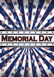 Happy Memorial Day background template. Stars and American flag. Patriotic banner. Vector illustration. Royalty Free Stock Photos