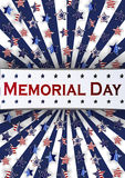Happy Memorial Day background template. Stars and American flag. Patriotic banner. Vector illustration. Stock Photos