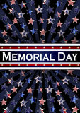 Happy Memorial Day background template. Stars and American flag. Patriotic banner. Vector illustration. Royalty Free Stock Photography