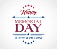 Free Happy Memorial Day Background With Text In Honor Of Our Heroes - Stock Photos - 117129663