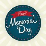 Happy Memorial Day Badge Royalty Free Stock Image