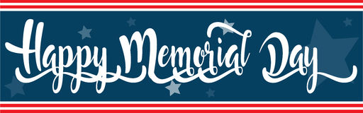 Happy Memorial Day banner or sign Royalty Free Stock Images