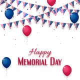 Happy Memorial Day banner on white background Stock Photos