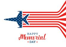 Free Happy Memorial Day Banner With War Airplane Flying Make Abstract Usa Flag Vector Design Royalty Free Stock Image - 127897206