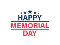 Happy Memorial Day card. National american holiday. Festive poster or banner with hand lettering. Vector illustration. Happy Memorial Day card. National Royalty Free Stock Photography