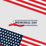 Happy Memorial Day Celebration Vector Template Design Illustration. Background usa card flag honor star greeting poster blue banner remember american holiday stock illustration
