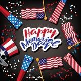Happy Memorial Day design. Royalty Free Stock Image
