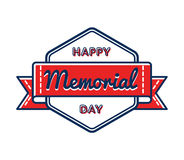 Happy Memorial day greeting emblem Stock Photography