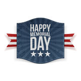 Happy Memorial Day Holiday Banner Stock Photos