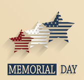 Happy Memorial Day poster Stock Photography
