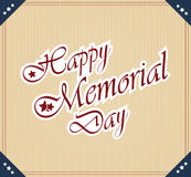 Happy Memorial Day Stock Images