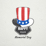 Happy Memorial day set. The celebration of patriotic celebration of America. Detailed elements. Typographic labels. Happy Memorial day set. The celebration of royalty free illustration