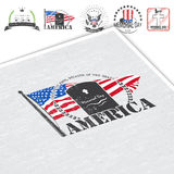 Happy Memorial day set. The celebration of patriotic celebration of America. Detailed elements. Typographic labels Royalty Free Stock Images