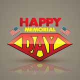 Happy memorial day superman style. Royalty Free Stock Images
