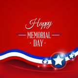 Happy Memorial day. Symbol red background.  illustration Stock Photo