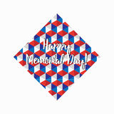 Happy memorial day triangle shape pattern Royalty Free Stock Photos