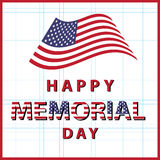 Happy memorial day usa Stock Image