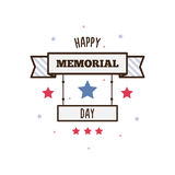 Happy Memorial Day. Vector illustration. Banner. Happy Memorial Day. Vector illustration Stock Photos