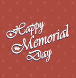 Happy Memorial Day vintage poster Royalty Free Stock Image
