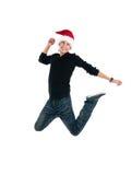 Happy men jump Stock Image