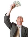 Happy men with money Royalty Free Stock Images
