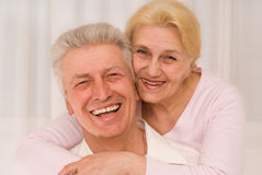 Happy  men and women together. Portrait of a beautiful and happy couple Stock Photography