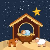 Happy merry christmas design Royalty Free Stock Image