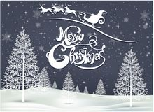 Happy Merry Christmas and happy new year companions. Snowfalt and star Royalty Free Stock Photography