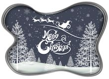 Happy Merry Christmas and happy new year companions. Snowfalt and star Stock Images