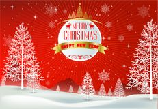 Happy Merry Christmas and happy new year companions Stock Photos