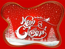 Happy Merry Christmas and happy new year companions. Snowfalt and star Royalty Free Stock Photos