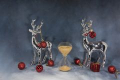 Happy Merry Christmas image. Abstract holidays image with some Christmas decor royalty free stock photos